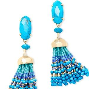 Kendra Scott Aqua Dove Earrings